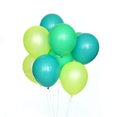 Букет воздушных шаров с гелием из шаров Мятный и лайм
