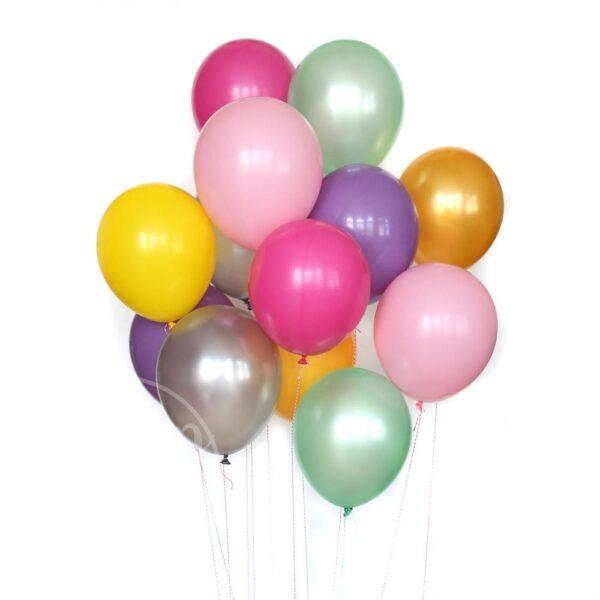 Букет воздушных шаров с гелием Пастель и перламутр