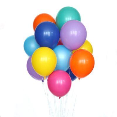 Букет воздушных шаров с гелием Пастель цветные