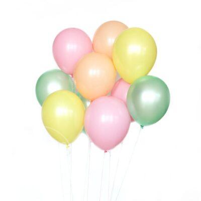 Букет воздушных шаров с гелием перламутр макарунс