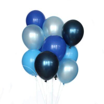 Букет воздушных шаров с гелием Синий и голубой