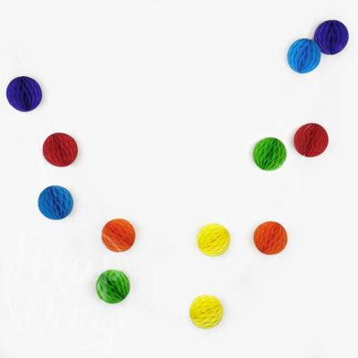 Гирлянда бумажная из цветных шаров