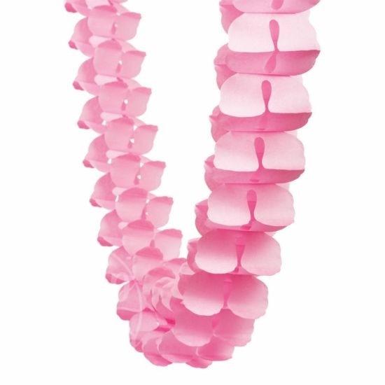 Гирлянда бумажная розовая