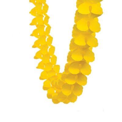 Гирлянда бумажная желтая
