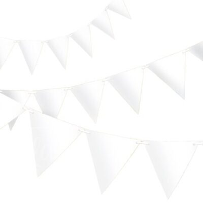 Гирлянда флажки белая