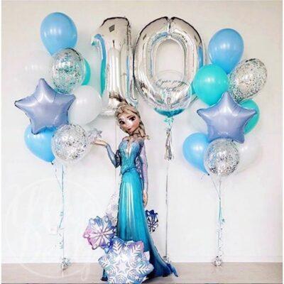 Набор воздушных шаров с гелием на 10 лет Холодное сердце