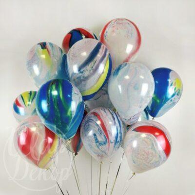 Облако воздушных шаров с гелием Космические агаты