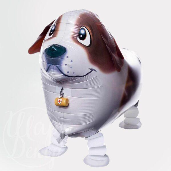 Шар ходячий Собака коричневая