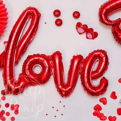 Шар Love красный