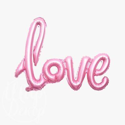 Шар Love розовый