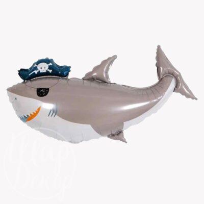 Шар воздушный с гелием Акула Пират