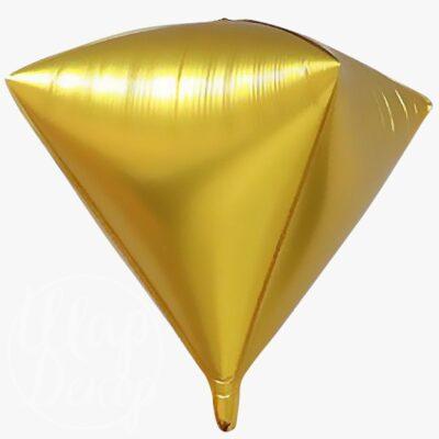 Шар воздушный с гелием Алмаз золото