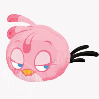 Шар воздушный с гелием Angry Birds розовая