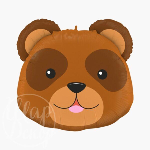 Шар воздушный с гелием голова медведя