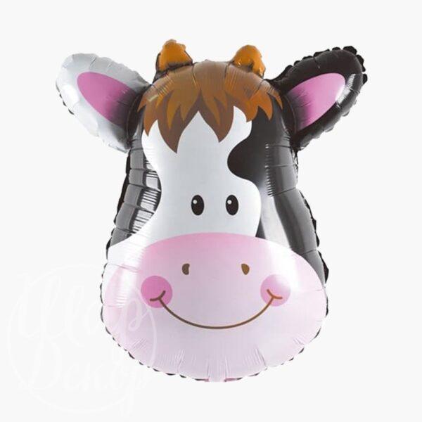 Шар воздушный с гелием Корова голова
