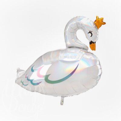 Шар воздушный с гелием Лебедь в короне