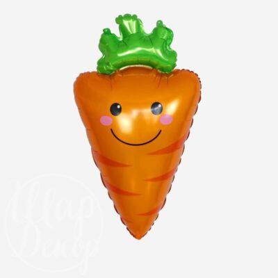 Шар воздушный с гелием Морковь улыбка