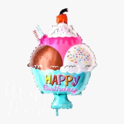 Шар воздушный с гелием Мороженое С днем рождения