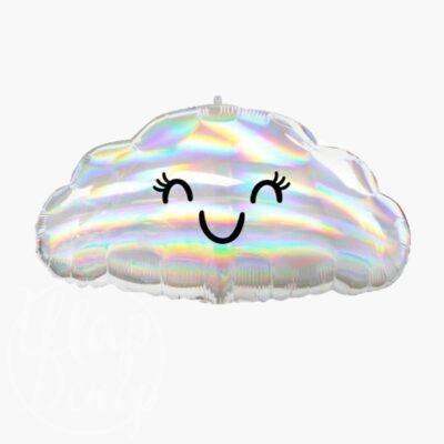 Шар воздушный с гелием облако перламутровое