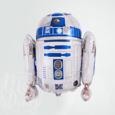 Шар воздушный с гелием робот R2D2 Звездные войны