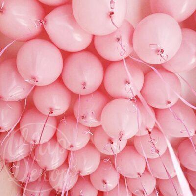 Шары воздушные под потолок розовый пастель
