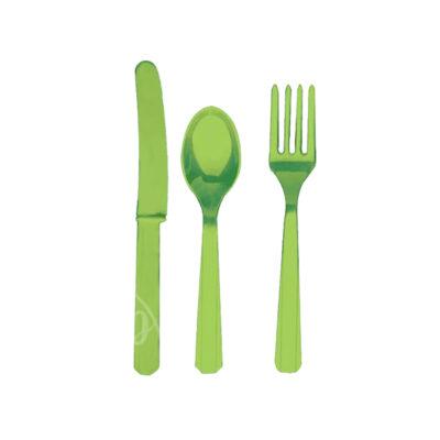 Приборы пластиковые 24 шт салатовые