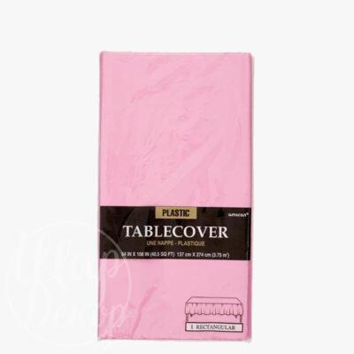 Скатерть полиэтилен нежно-розовая 1,4 х 2,75 м