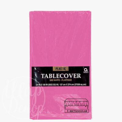 Скатерть полиэтилен розовая 1,4 х 2,75 м
