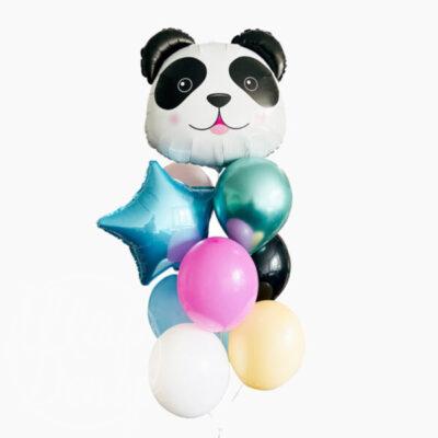 Букет воздушных шаров с гелием Панда