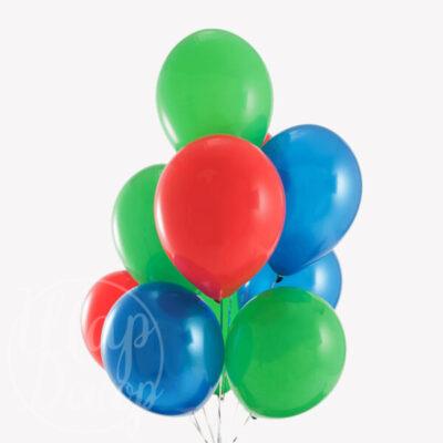 Букет воздушных шаров с гелием цвета Герои в масках