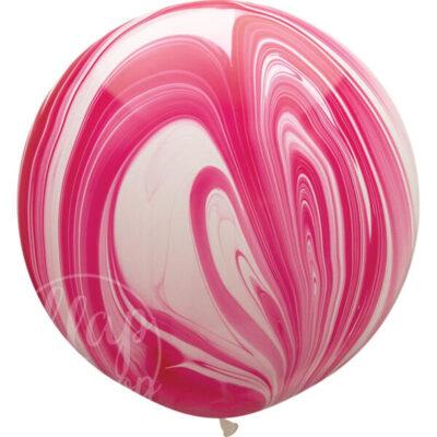 Букет из воздушных шаров с гелием Розовый и желтый